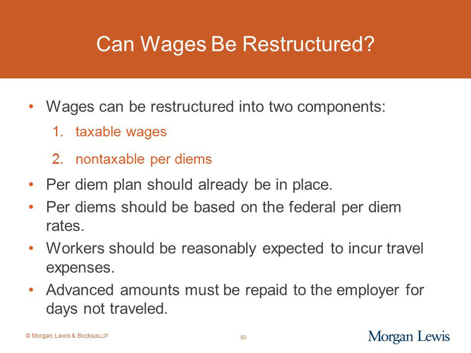 Can Wages Be Restructured