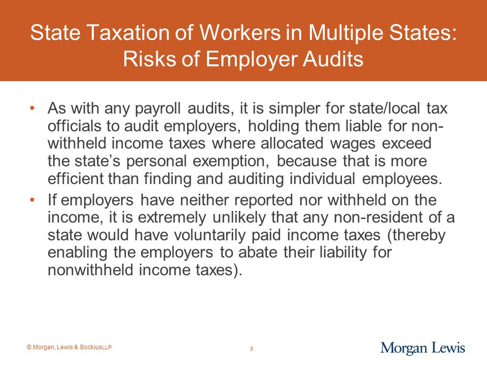State Taxation of Workers in Multiple States: Risks of Employer Audits