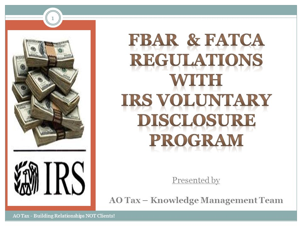 Presented by AO Tax – Knowledge Management Team