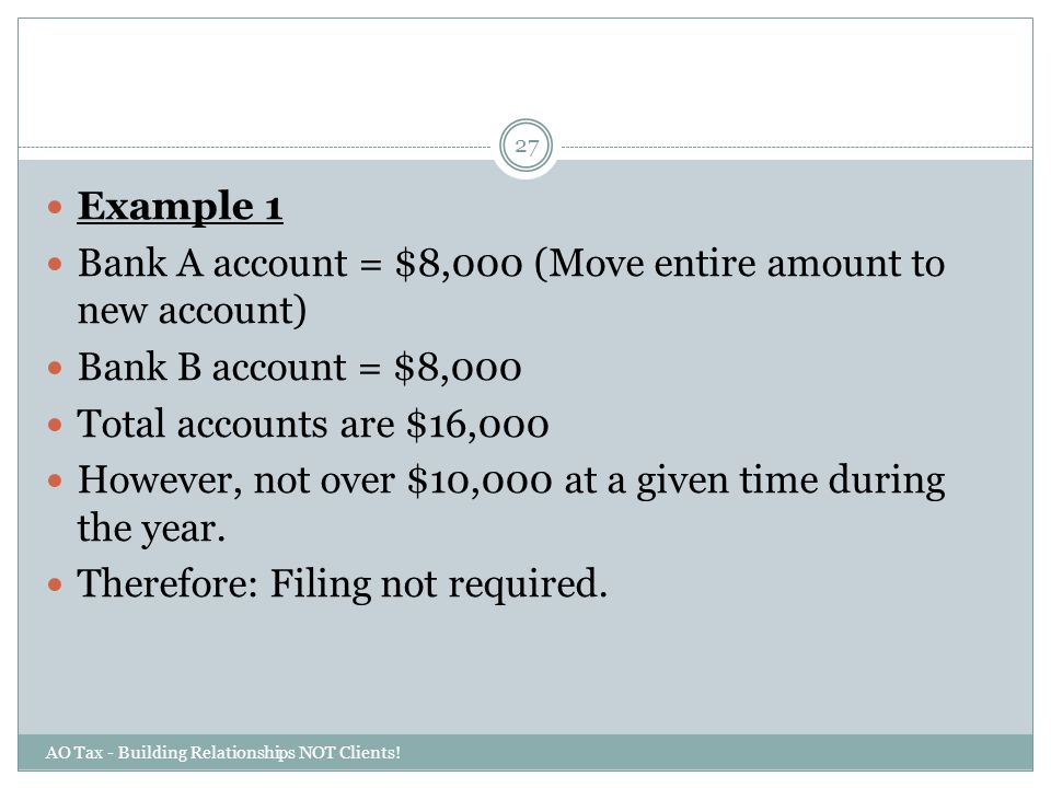 Bank A account = $8,000 (Move entire amount to new account)