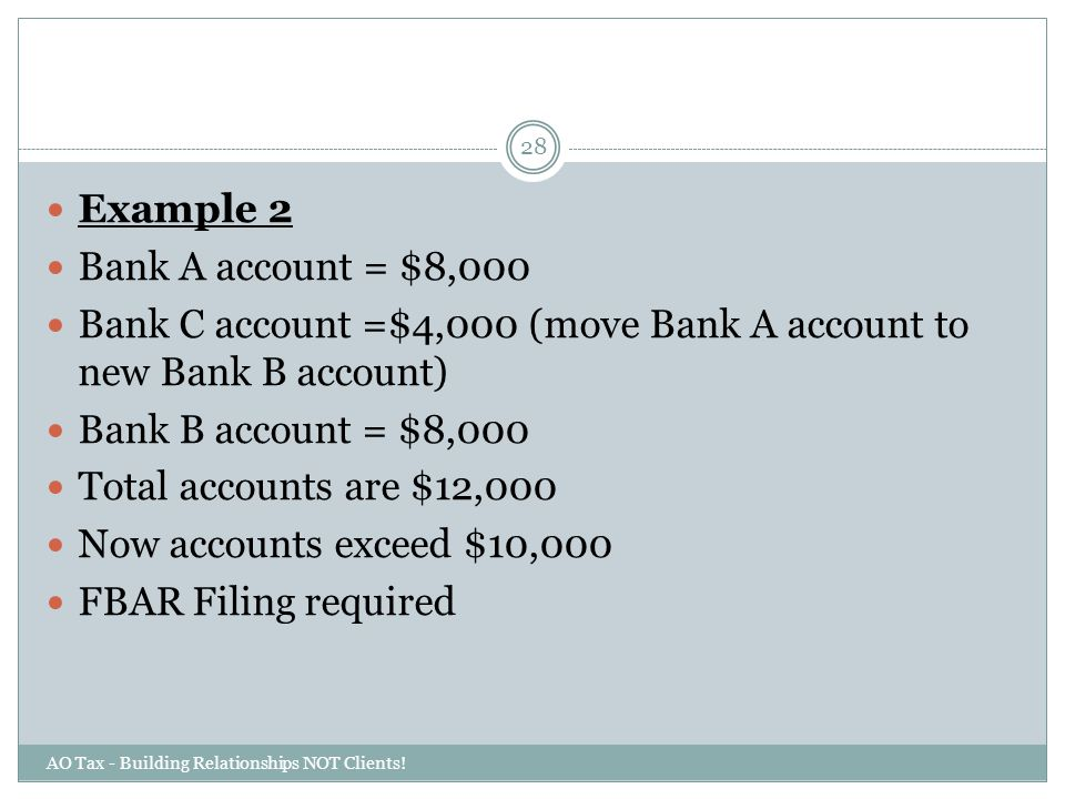 Bank C account =$4,000 (move Bank A account to new Bank B account)