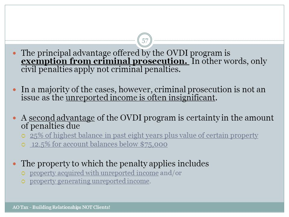 The property to which the penalty applies includes