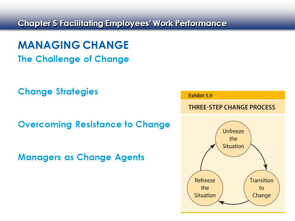Managing Change The Challenge of Change Change Strategies