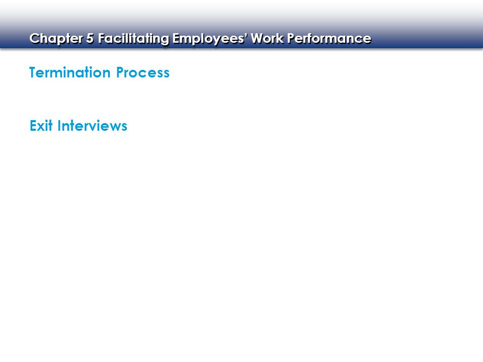 Termination Process Exit Interviews