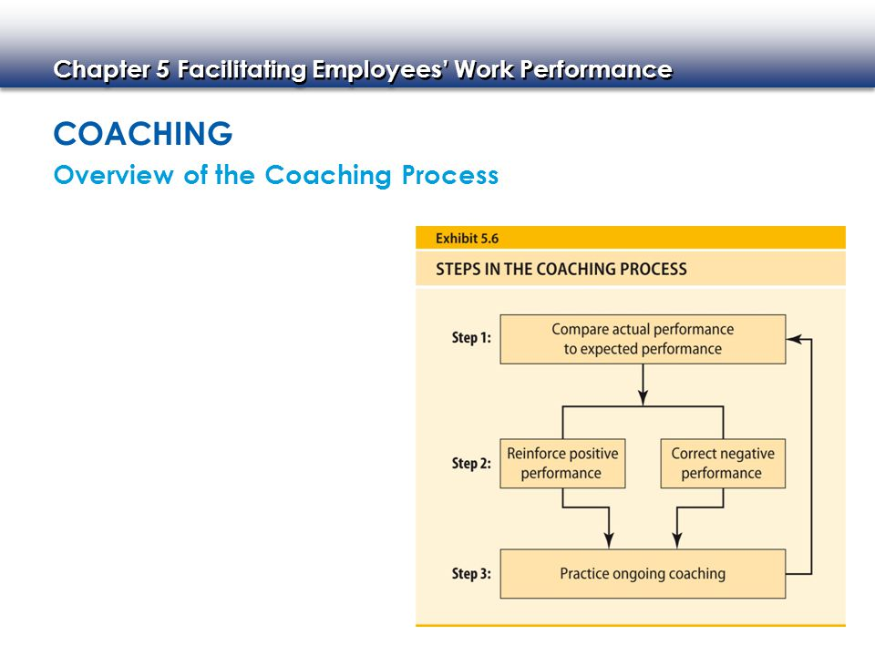 Coaching Overview of the Coaching Process