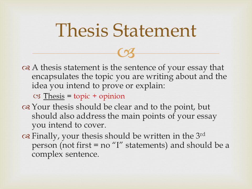 Example Of A Comparative Essay Thesis