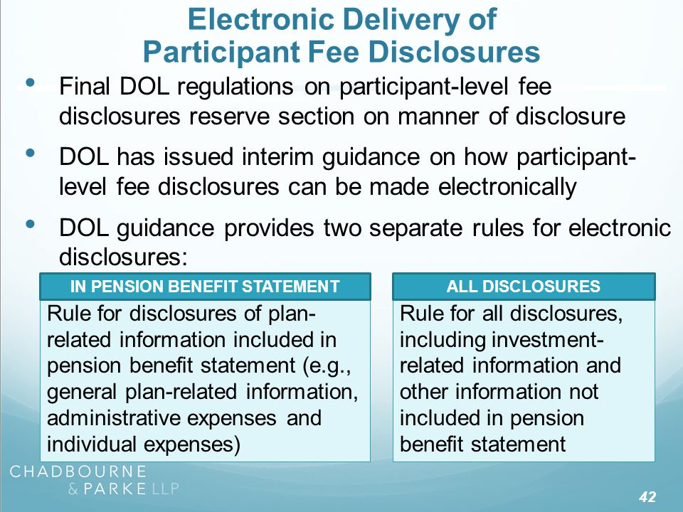 Disclosures of Plan-Related Information Included In Pension Benefit Statement