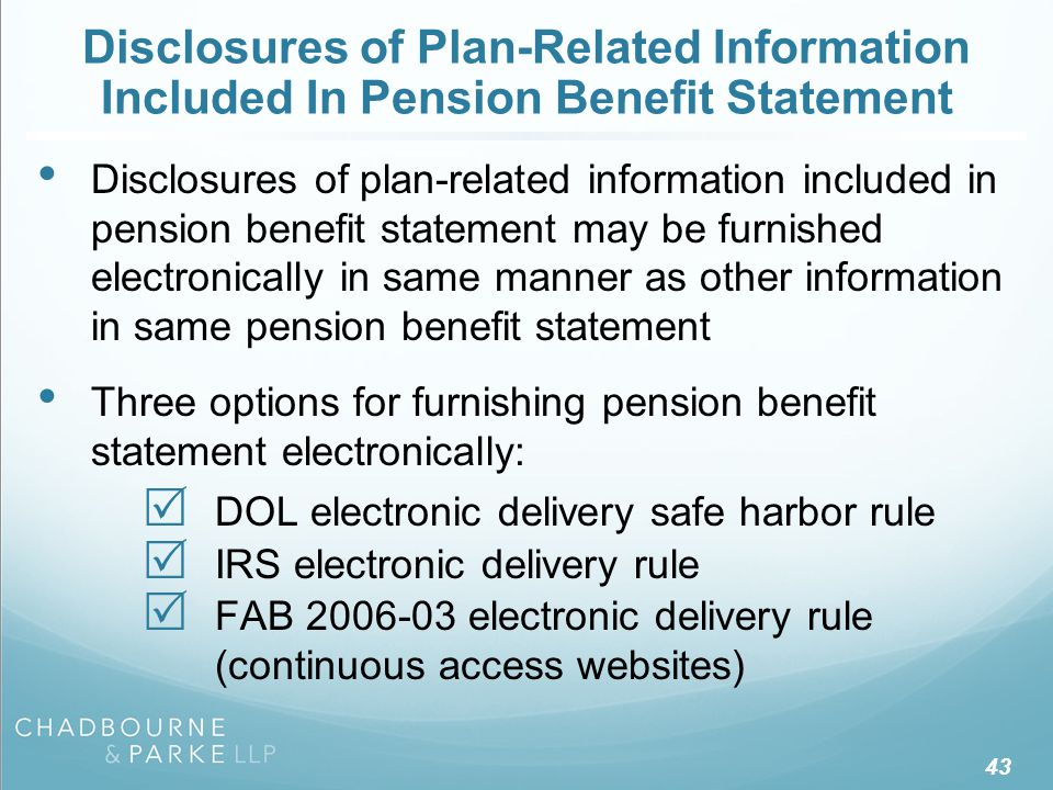 DOL Electronic Delivery Safe Harbor Rule
