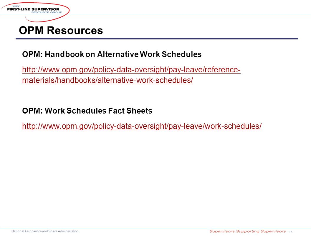 OPM Resources