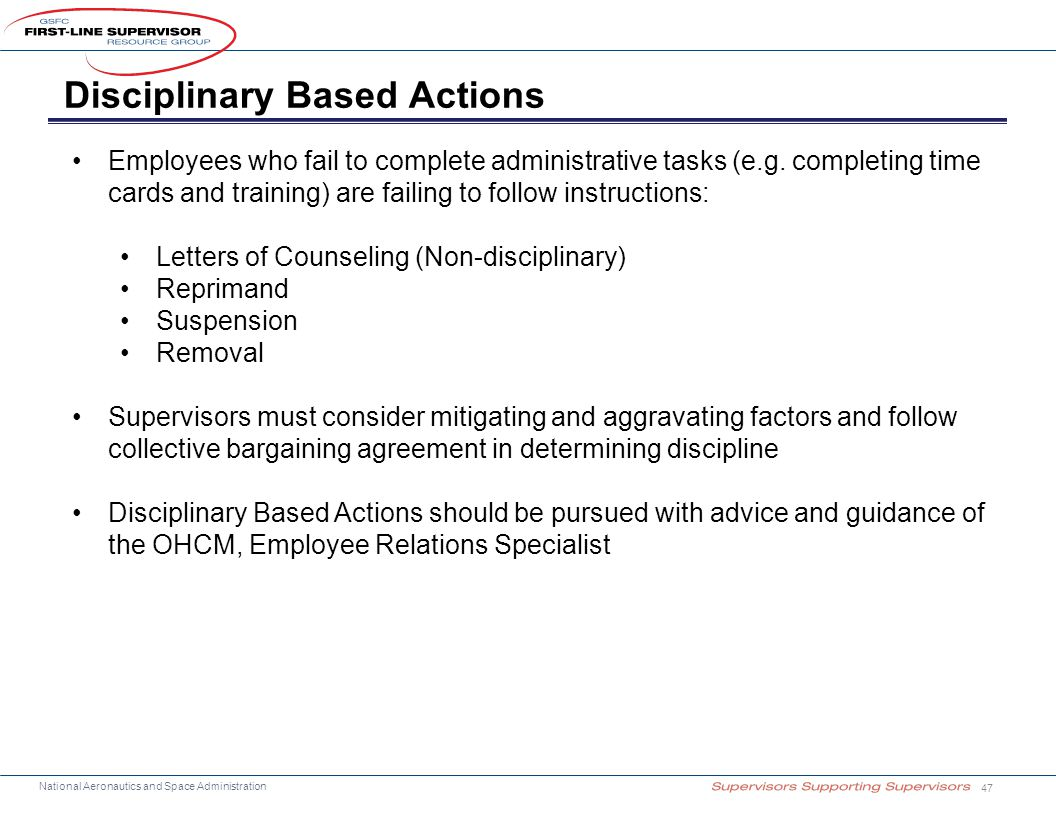Disciplinary Based Actions