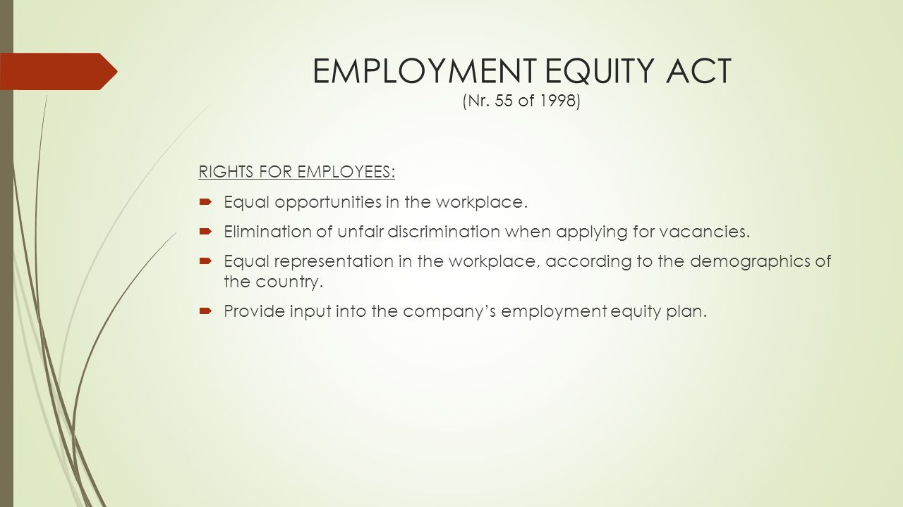 implications of affirmative actions on business You can discriminate if it is part of an affirmative action programme, in line  small business in terms of schedule 4 of the employment equity act.