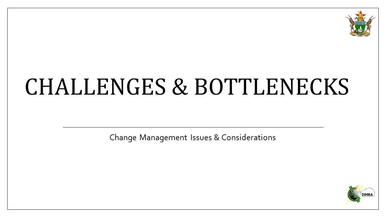 Challenges & Bottlenecks