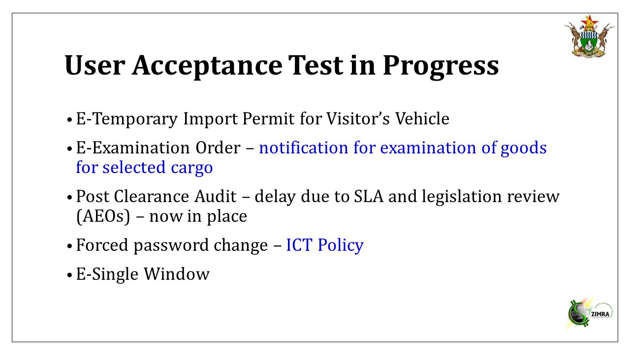 User Acceptance Test in Progress