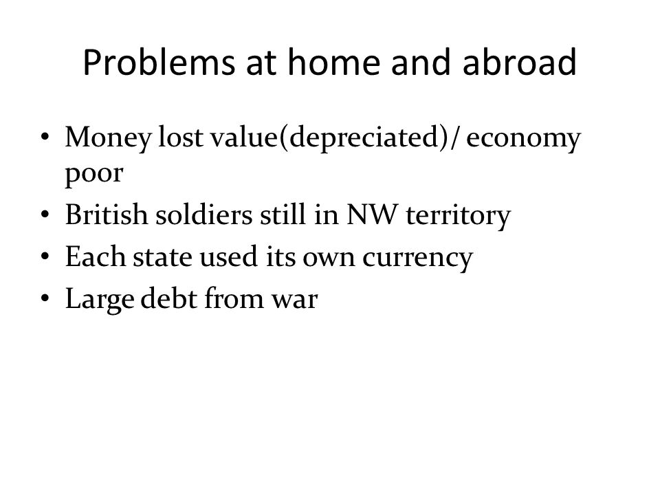 Problems at home and abroad