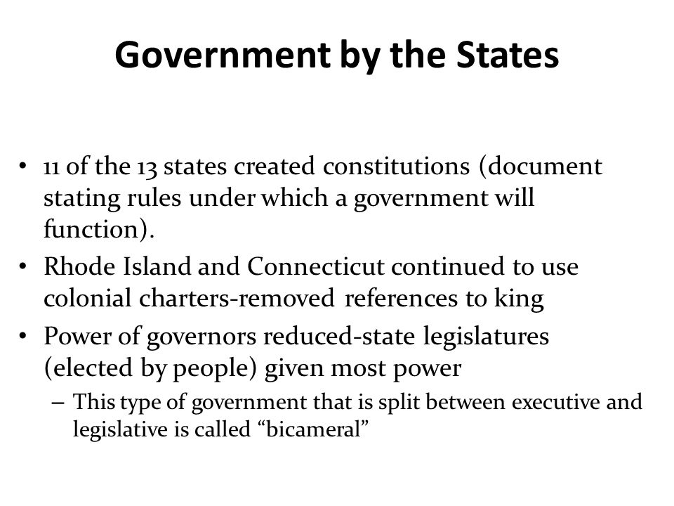Government by the States