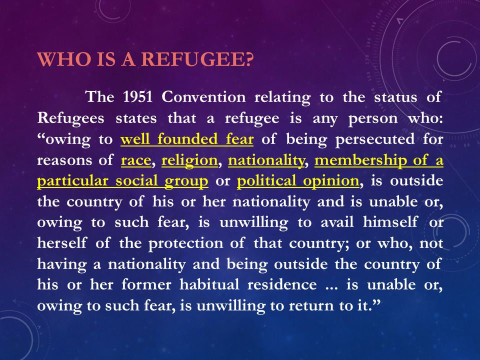 WHO IS A REFUGEE