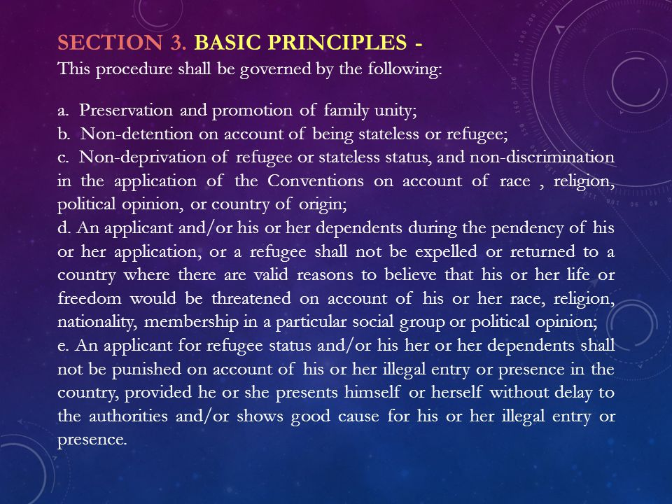 SECTION 3. BASIC PRINCIPLES -