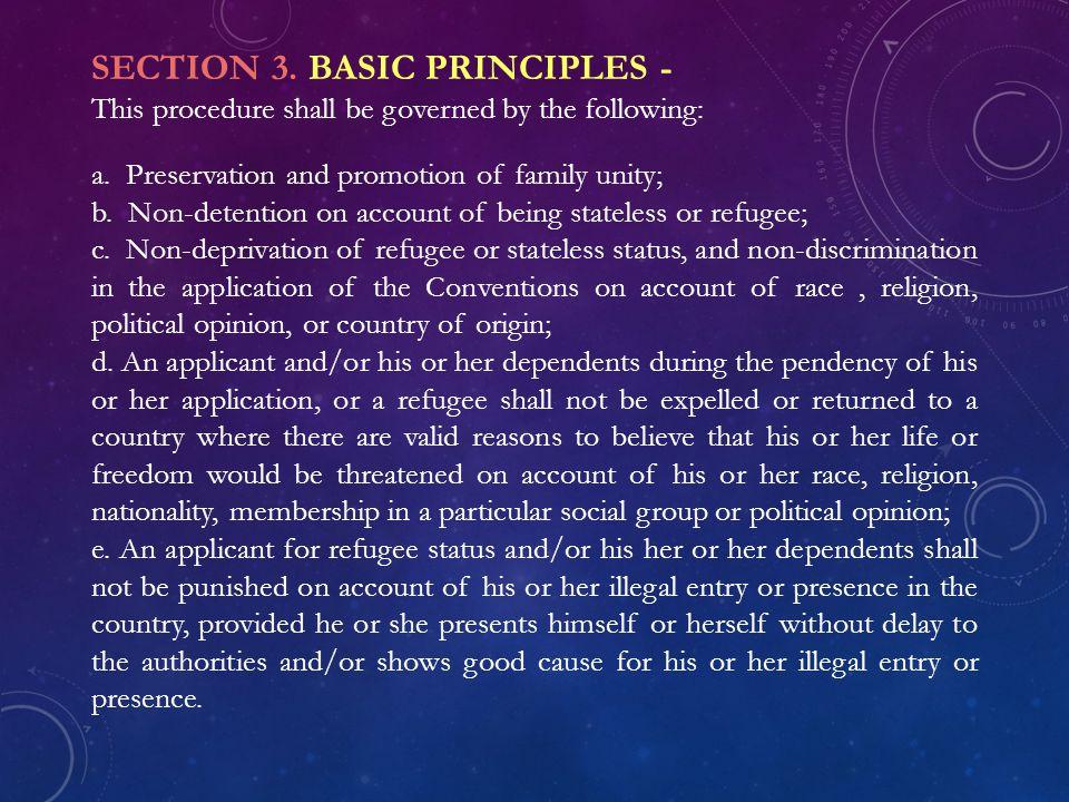 SECTION 3. BASIC PRINCIPLES -