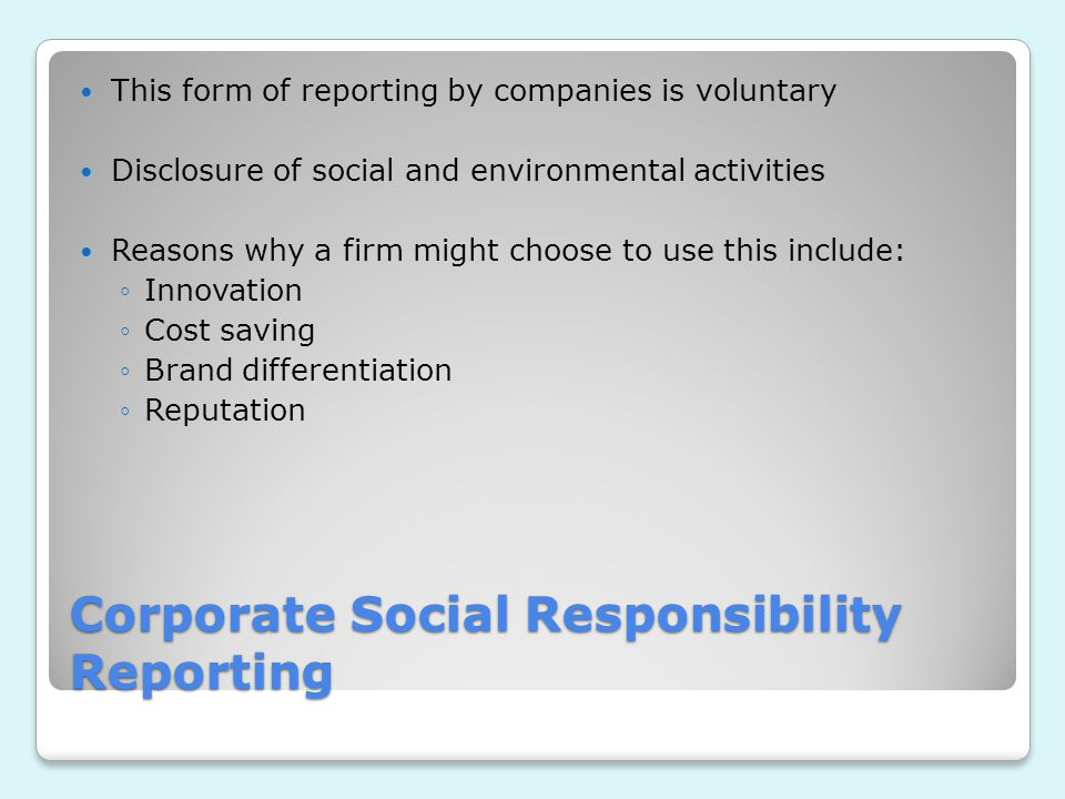 corporate social responsibility and stakeholder theory Corporate social responsibility and accounting  to satisfy various stakeholders, corporate social  all papers treated stakeholder theory showing that.