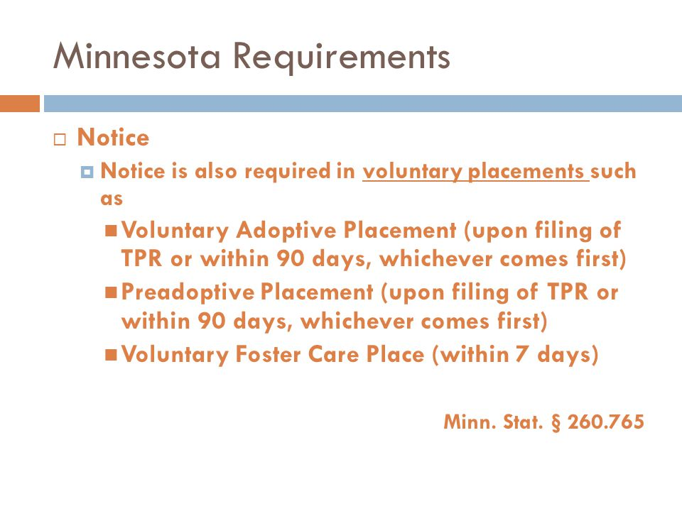 Minnesota Requirements