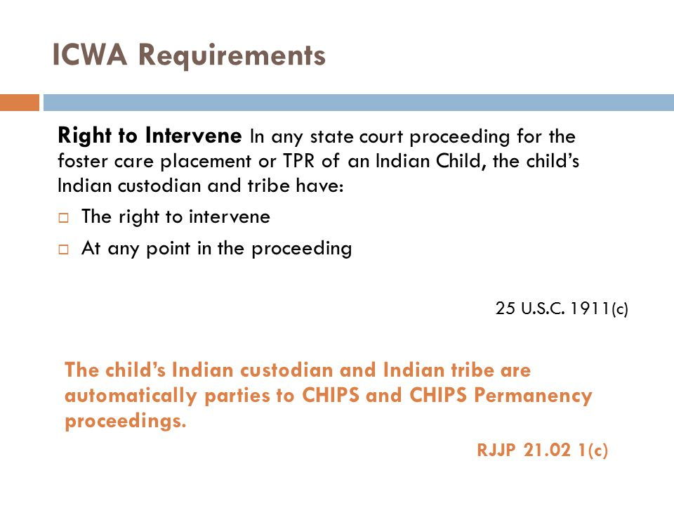 ICWA Requirements