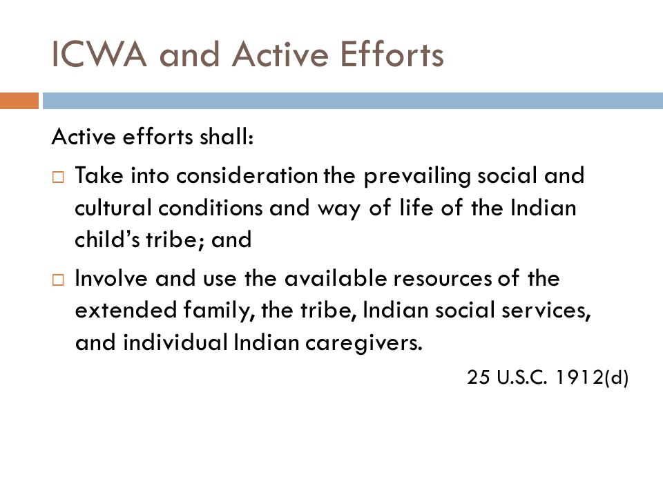 ICWA and Active Efforts