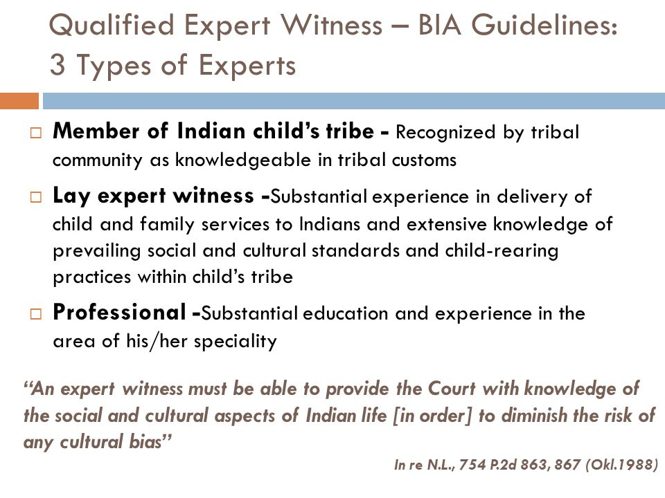 Qualified Expert Witness – BIA Guidelines: 3 Types of Experts