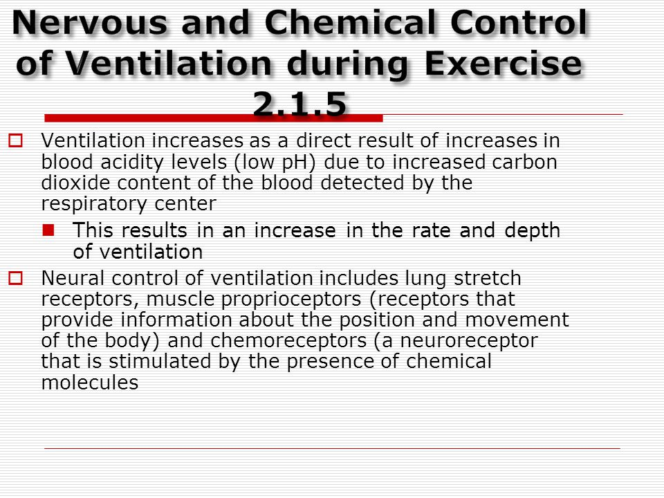 Nervous and Chemical Control of Ventilation during Exercise 2.1.5