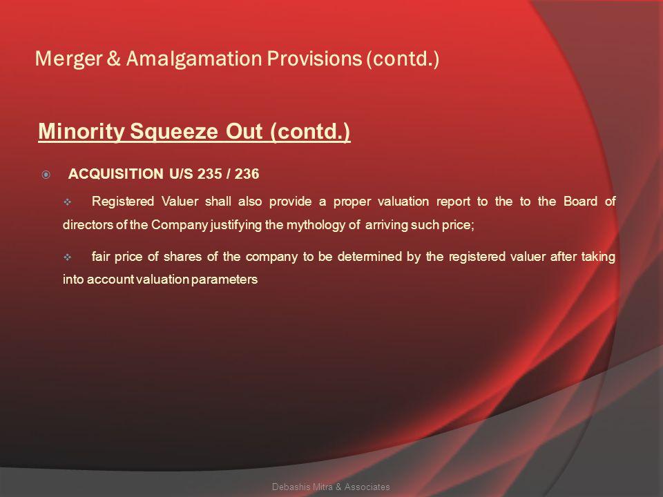 Merger & Amalgamation Provisions (contd.)
