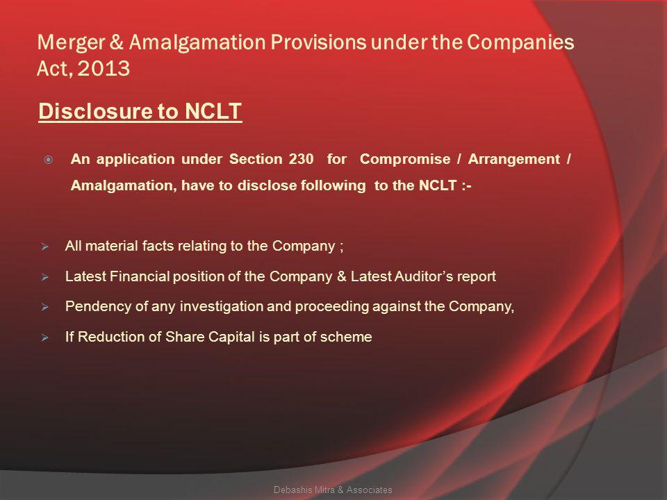Merger & Amalgamation Provisions under the Companies Act, 2013