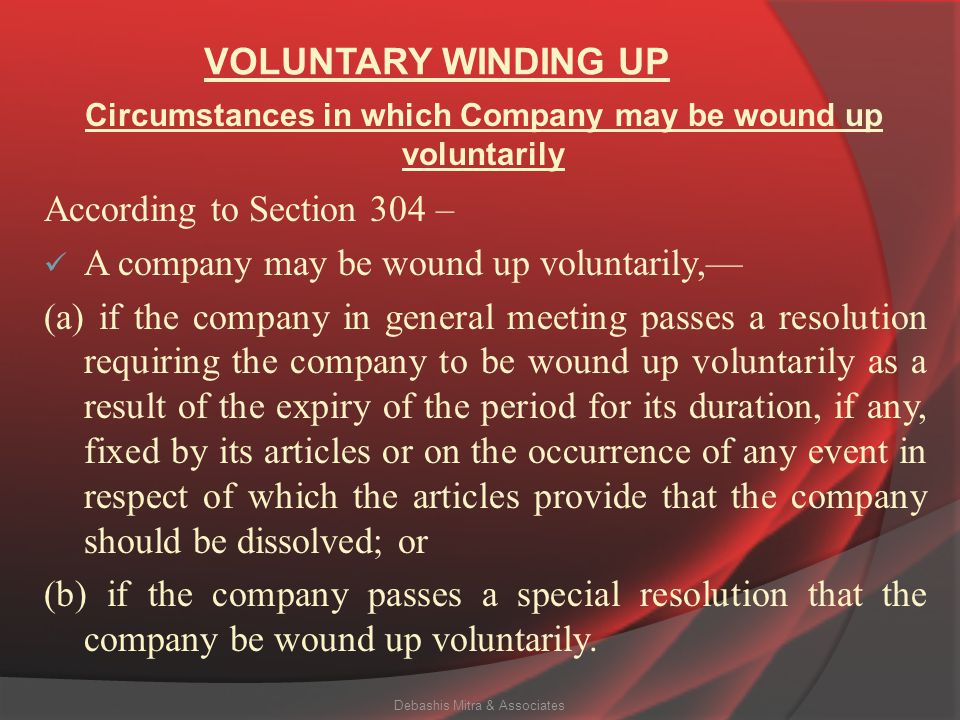 Circumstances in which Company may be wound up voluntarily