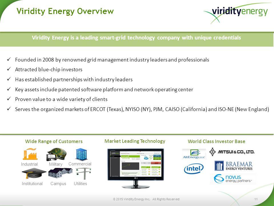 Viridity Energy Overview