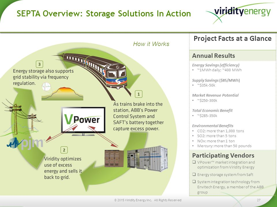 SEPTA Overview: Storage Solutions In Action