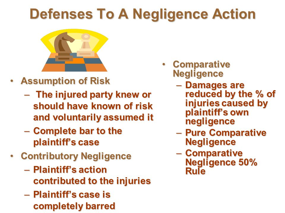 Defenses To A Negligence Action
