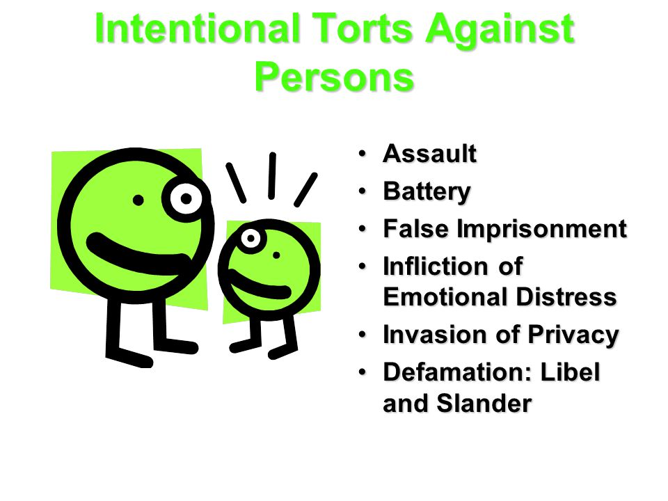 Intentional Torts Against Persons