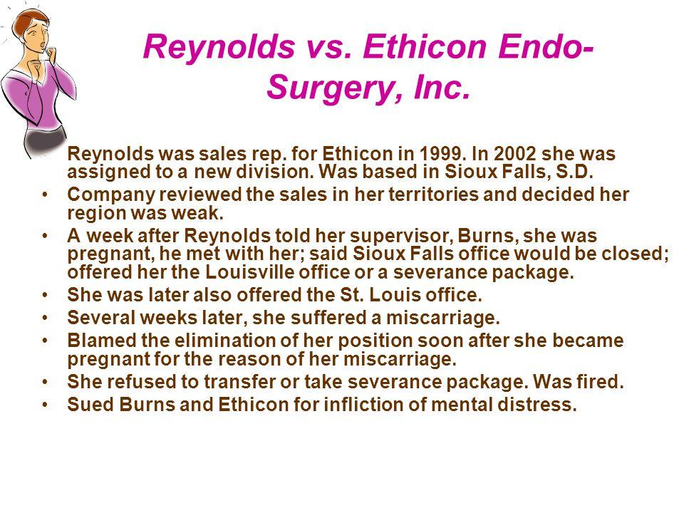 Reynolds vs. Ethicon Endo-Surgery, Inc.