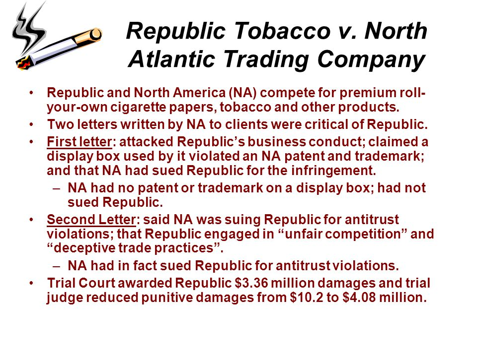 Republic Tobacco v. North Atlantic Trading Company