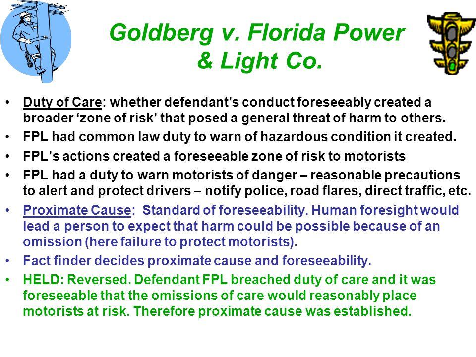 Goldberg v. Florida Power & Light Co.
