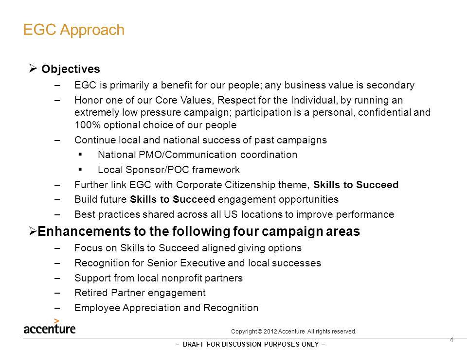 EGC Approach Objectives