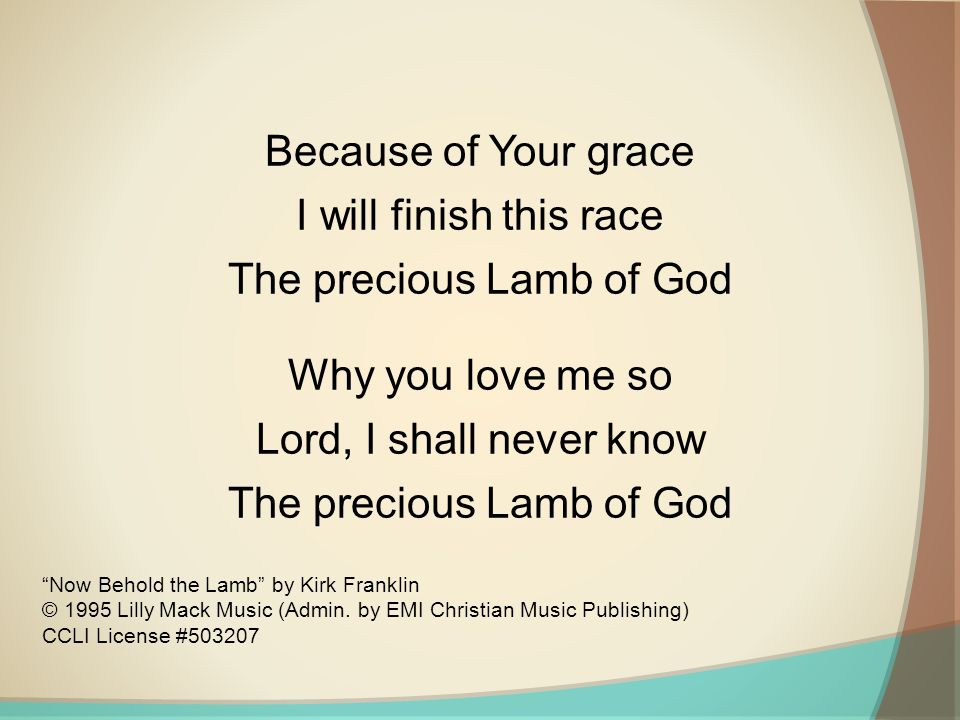 The precious Lamb of God Why you love me so
