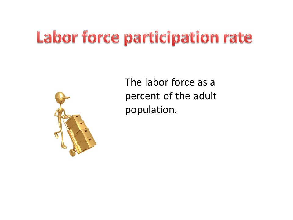 The labor force as a percent of the adult population.