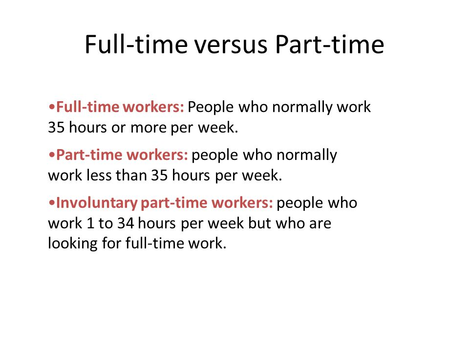 Full-time versus Part-time