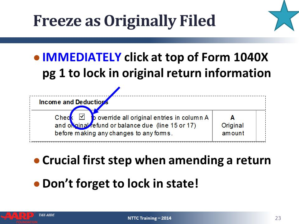 Freeze as Originally Filed