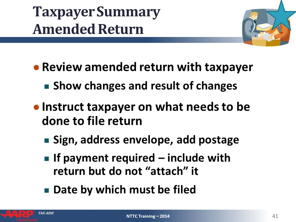 Taxpayer Summary Amended Return