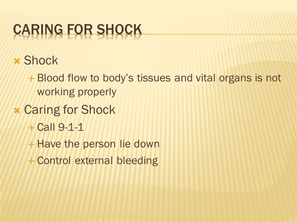 Caring for shock Shock Caring for Shock