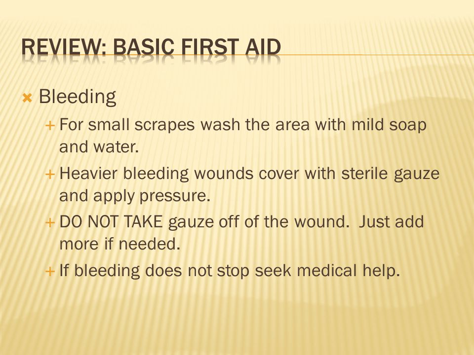 Review: Basic First Aid