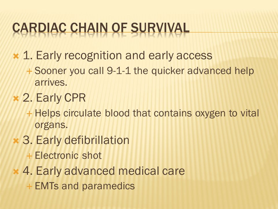 Cardiac chain of survival