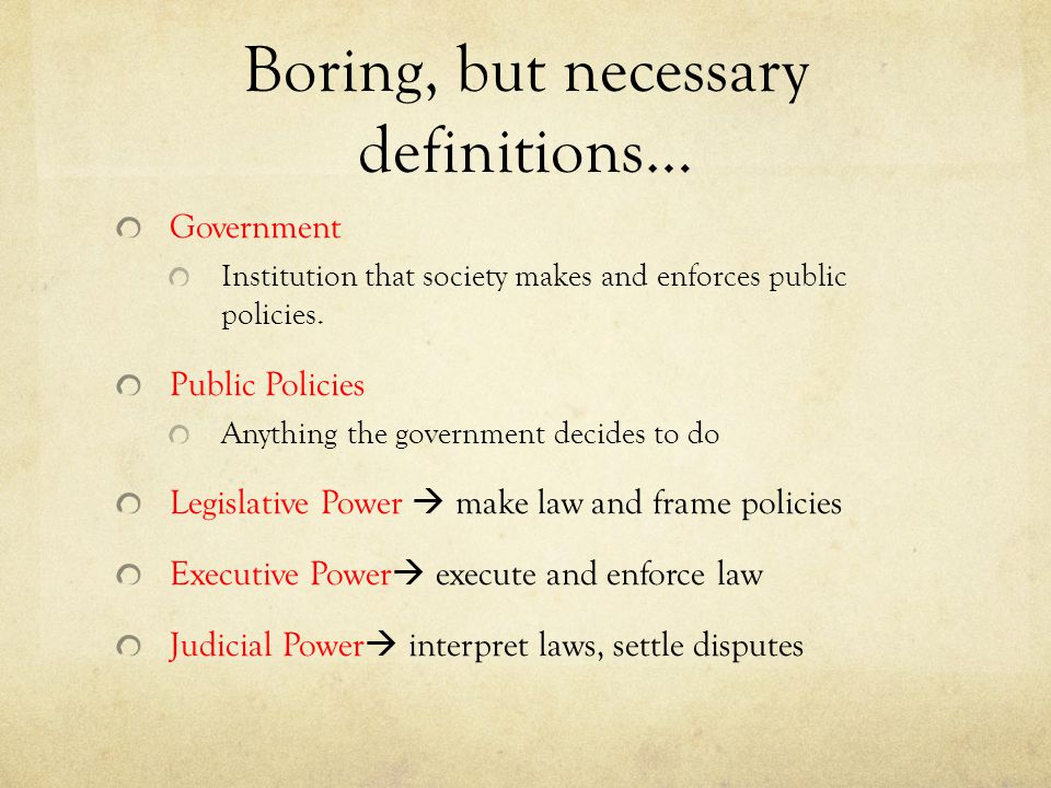 Boring, but necessary definitions…
