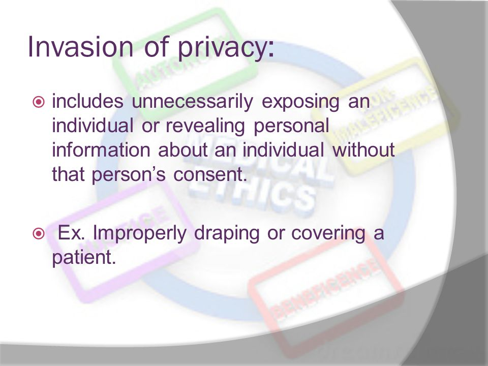 Invasion of privacy: