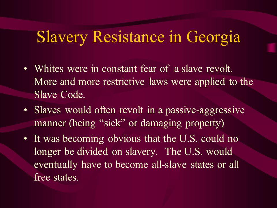 Slavery Resistance in Georgia
